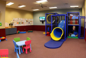 Prestige Fitness Arvada has a spacious child care center in the Kids Club